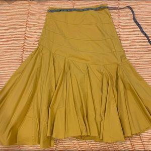 Maeve prairie skirt mustard EUC